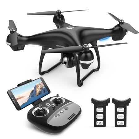 Holy Stone GPS FPV RC Drone HS100 with 1080P Camera and Video GPS Return Home Quadcopter with Adjustable Wide-Angle WIFI Camera Follow Me, Altitude Hold,extra Battery