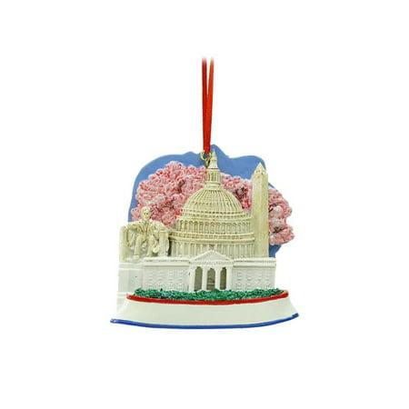 "3.25"" Decorative Washington DC Monumental Scene Christmas Ornament - image 2 de 2"