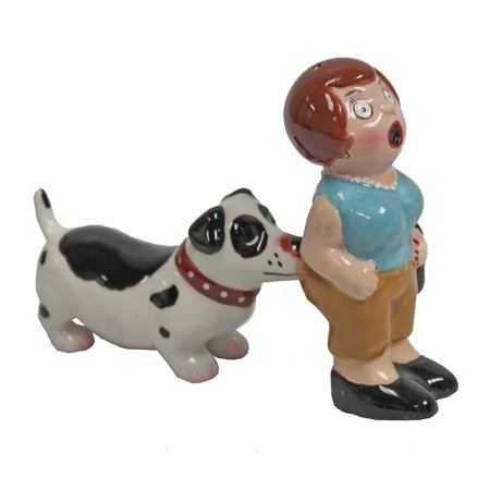 A Lady and A Tramp SP Shakers Dog Biting Woman's Bum Magnetic Salt and Pepper Shaker Set, Bringing the fun back into functionality with functional yet.., By Pacific Trading (Lady And The Tramp Figurine Set)