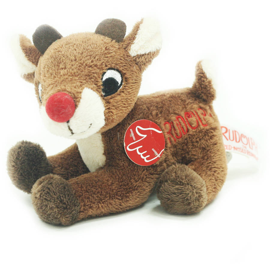 Holiday Time Christmas Decor Rudolph The Red Nose Reindeer Musical Plush Rudolph