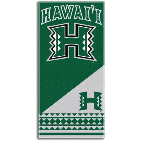 NCAA Hawaii Rainbow Warriors Home Beach Towel, 28 x 58-Inch