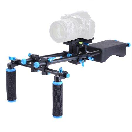 Studio DSLR Rig Video Camera Camcorder Shoulder Mount Stabilizer w/Dual Handgrip - image 2 de 9