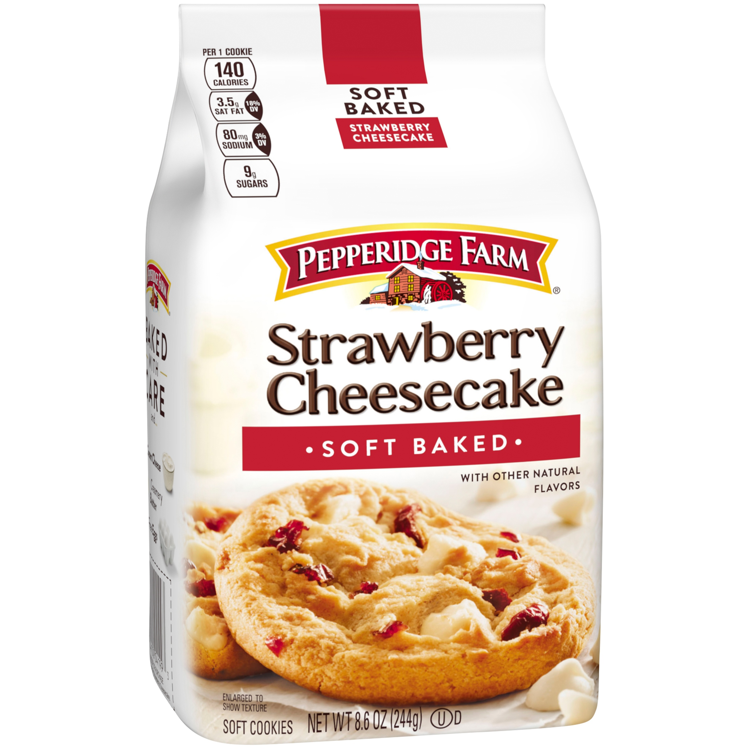 Pepperidge Farm Strawberry Cheesecake Soft Baked Cookies 8.6 oz. Stand Up Bag by Pepperidge Farm, Inc.