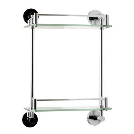 Alfi Brand ALFI brand AB9549 Polished Chrome Wall Mounted Double Glass Shower Shelf Bathroom Accessory