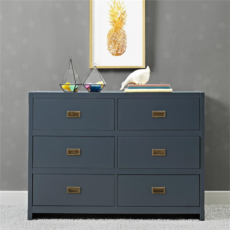 Baby Relax Miles 6 Drawer Dresser in Graphite Blue by Dorel Asia