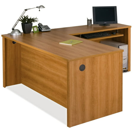 Bestar Embassy L-Shaped Computer Desk with Filing