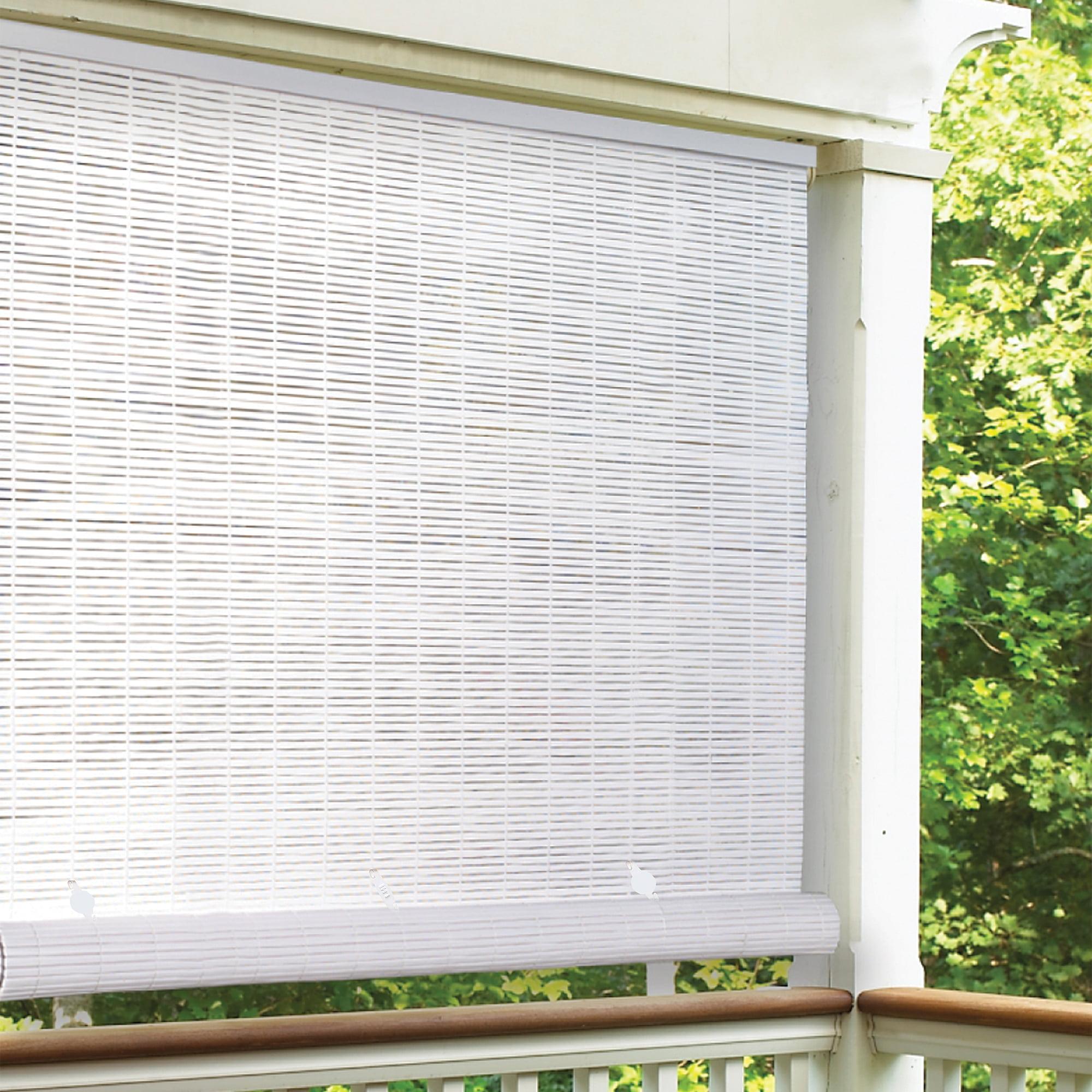 Radiance 4 X 6 Cordless 1 4 Pvc Roll Up Outdoor Sun Shade White Walmart Com Walmart Com