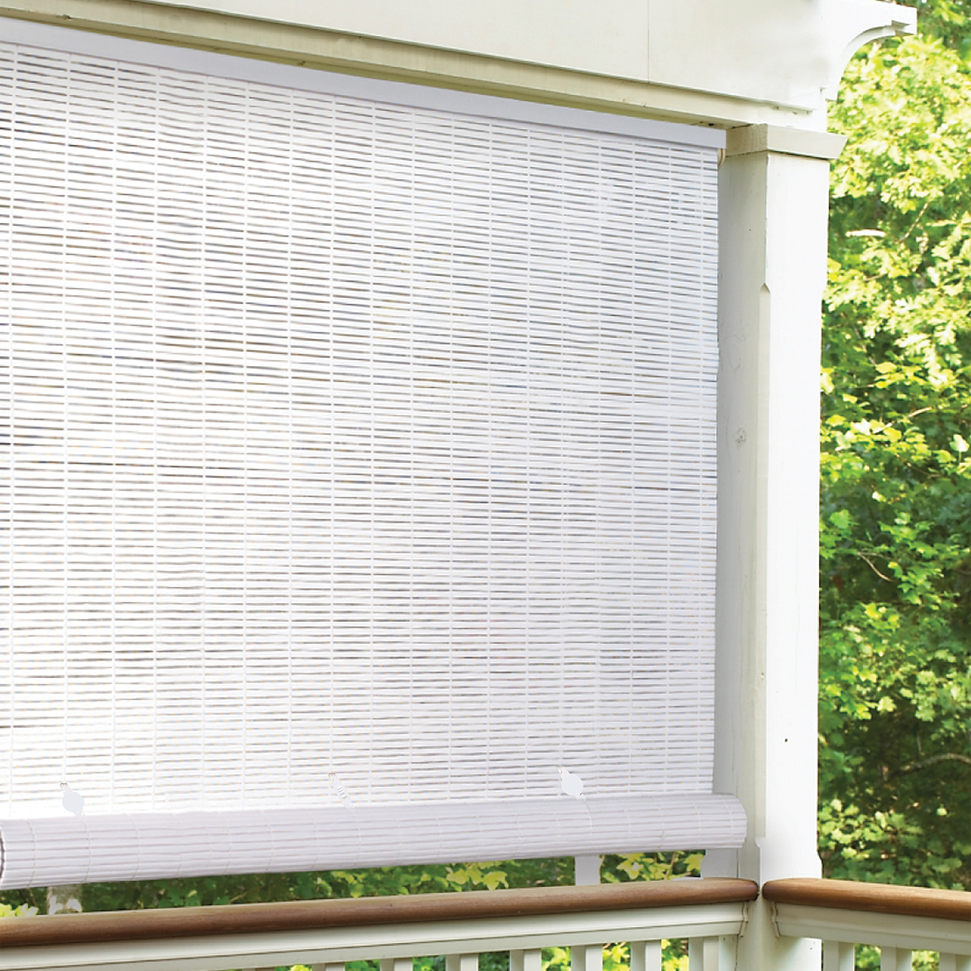 Reed Cordless Roll up Shade With Fasteners 4 X 6 FT Cocoa Outdoor Sun Shade New