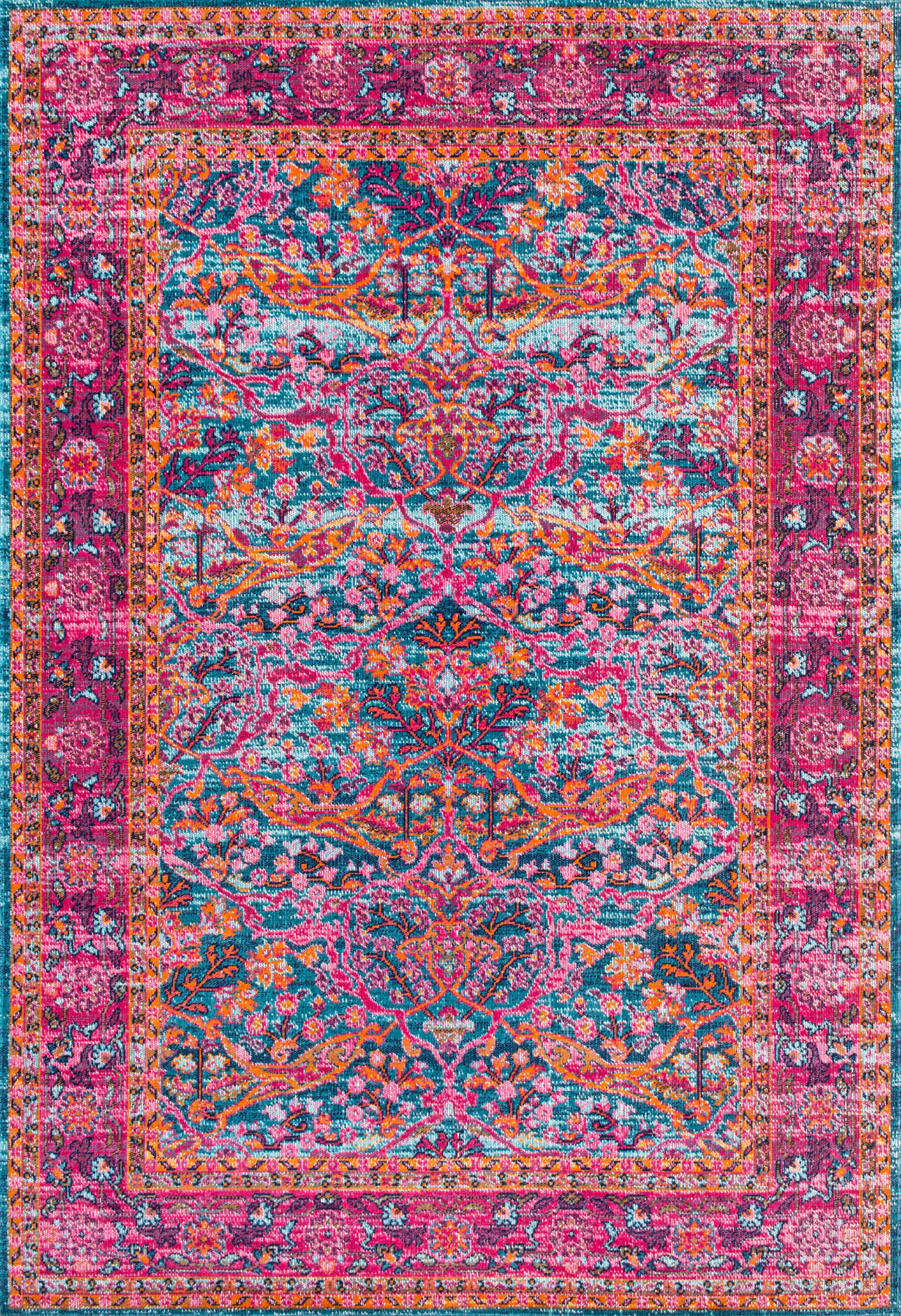 nuLOOM Persian Floral Yoshie Area Rug or Runner by nuLOOM