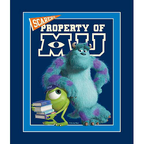 Springs Creative Disney Monsters University Mike and Sully Panel Fabric by the Yard