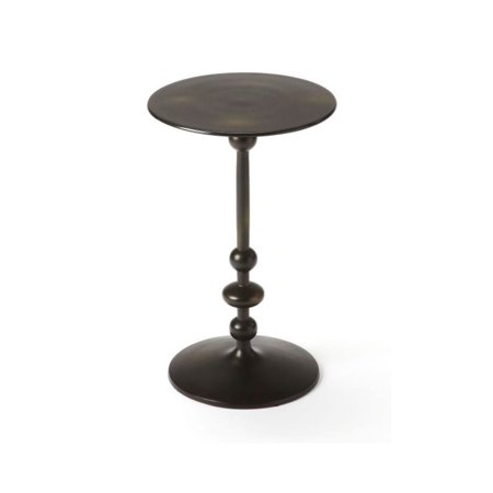 Beaumont Lane Pedestal End Table in Black Iron ()