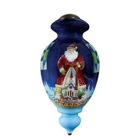 Ne 'Qwa Art 857-SA-SH Jingle All The Way Hand-Painted Glass - Ne Qwa Halloween Ornaments