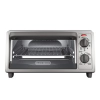 4-Slice Countertop Toaster Oven, Stainless steel Silver TO1322SBD BLACK+DECKER