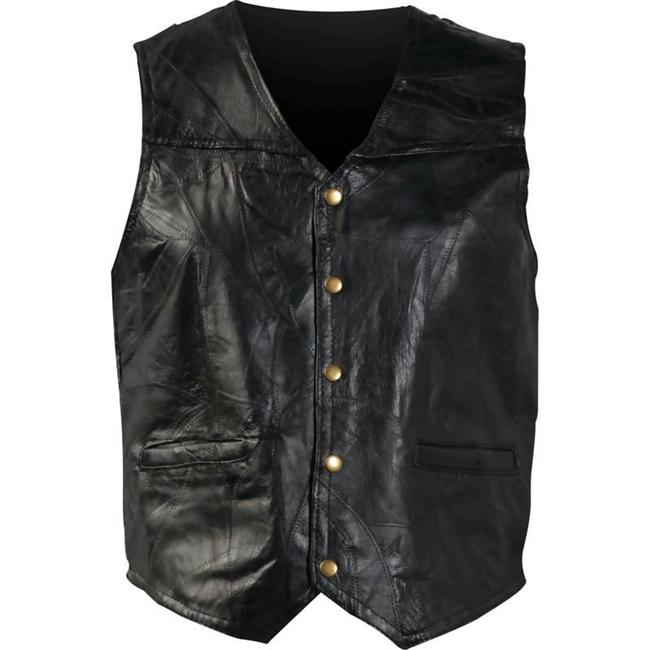 Giovanni Navarre Stone Leather Vest - 5X