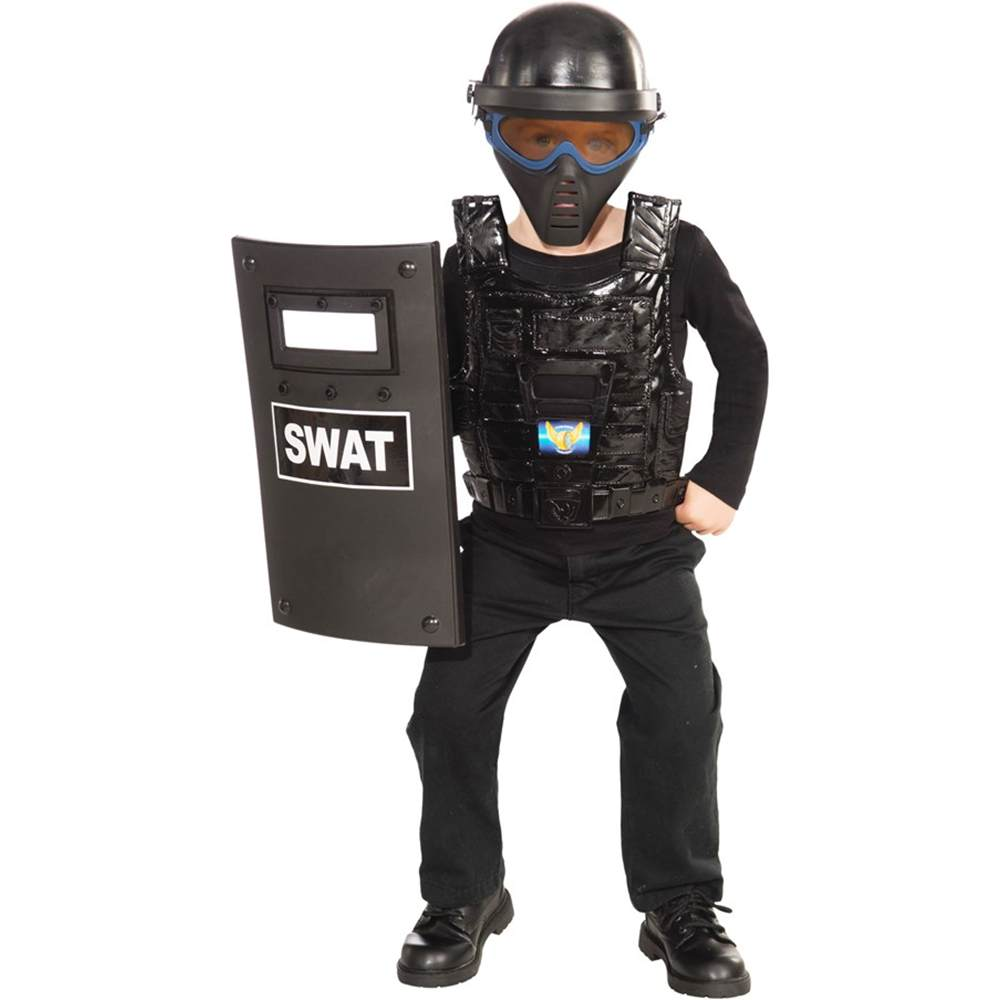 S.W.A.T. Police Kids Costume Kit