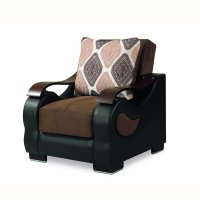 Metroplex Fabric Upholstery Convertible Arm Chair with Storage