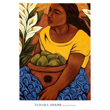 Bountiful Garden Art Print By Tamara Adams - 14x19