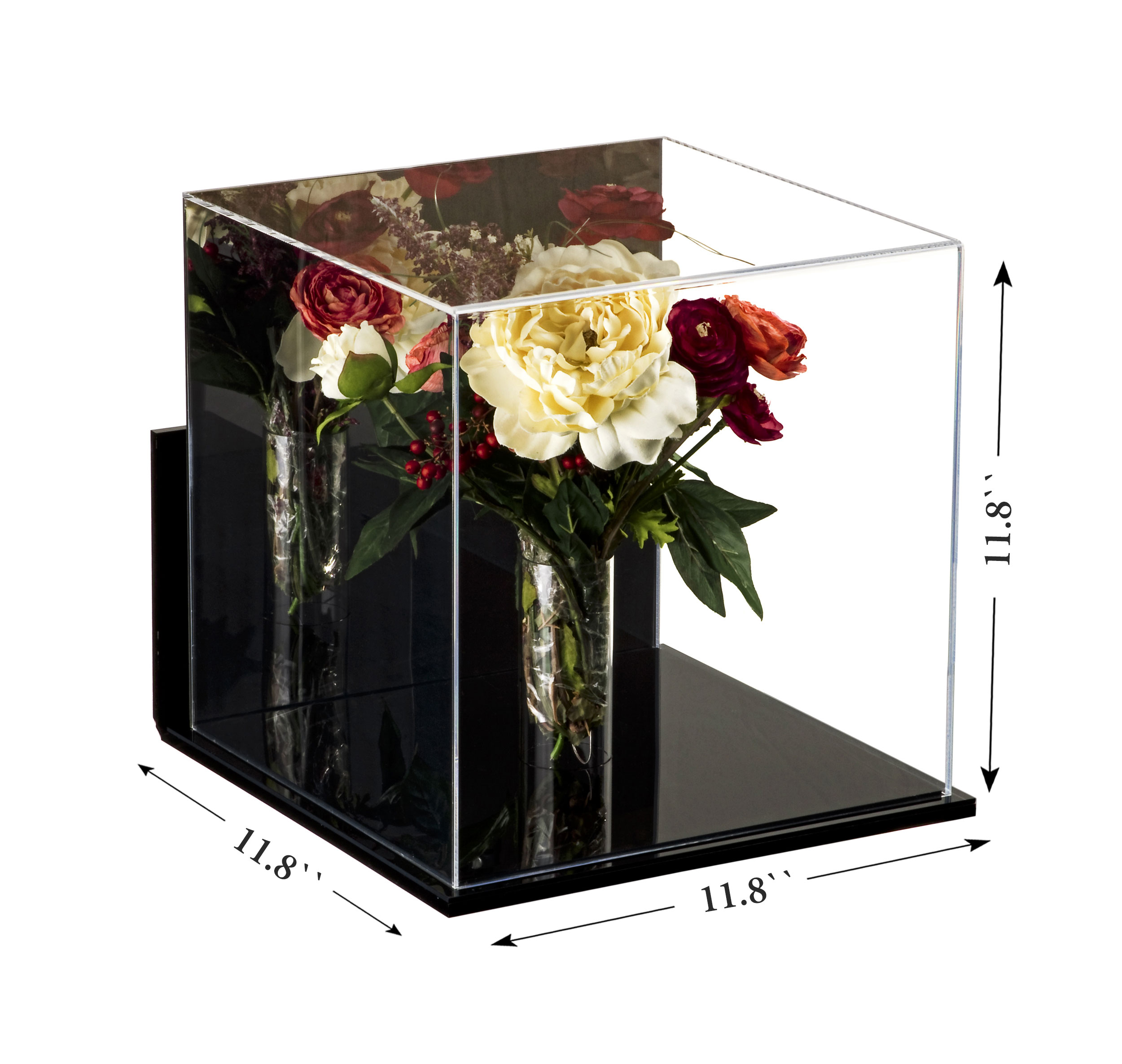 Deluxe Acrylic Collectible Wedding Flower Bouquet Display Case With