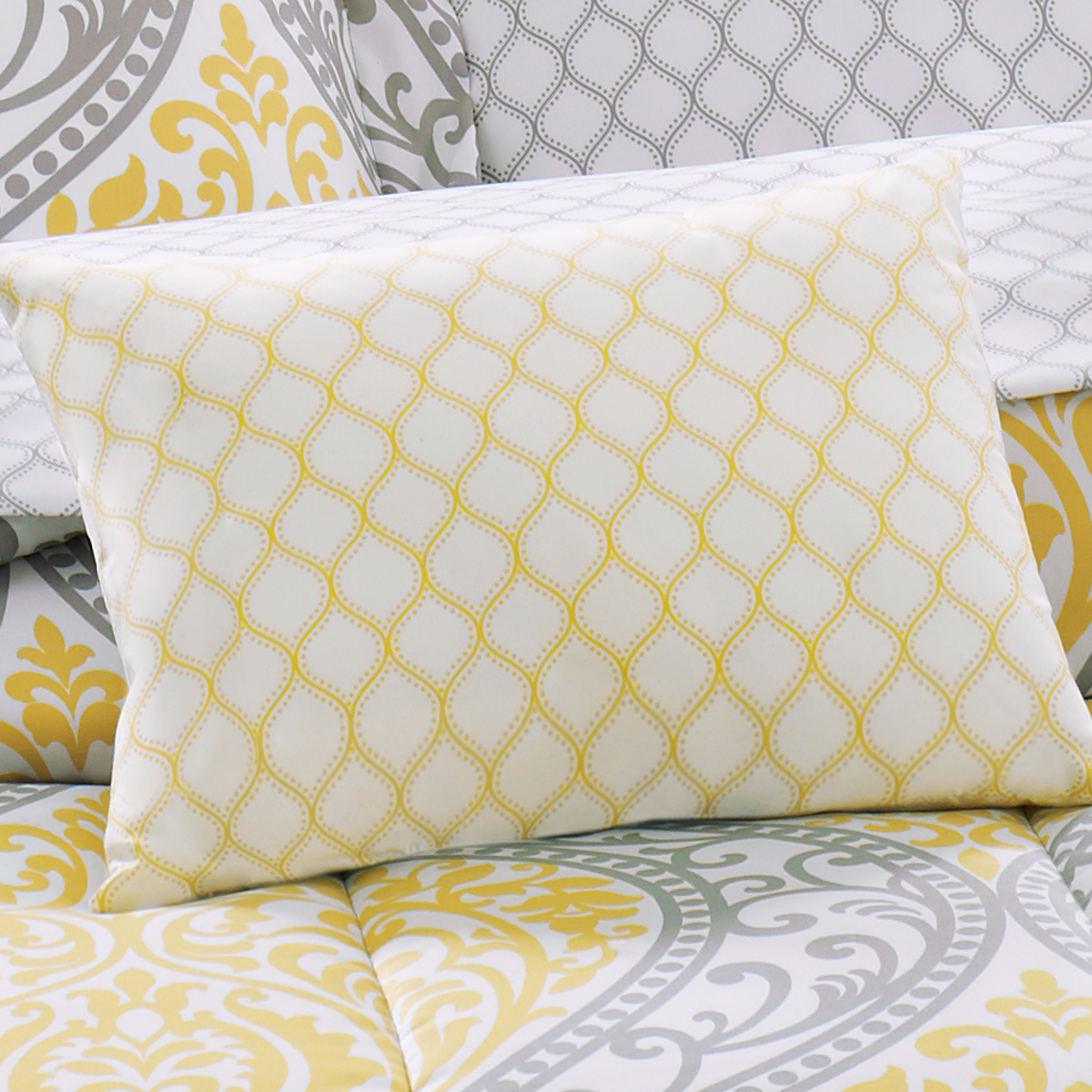 1597482b83 Mainstays Yellow Damask Coordinated Bedding - Walmart.com