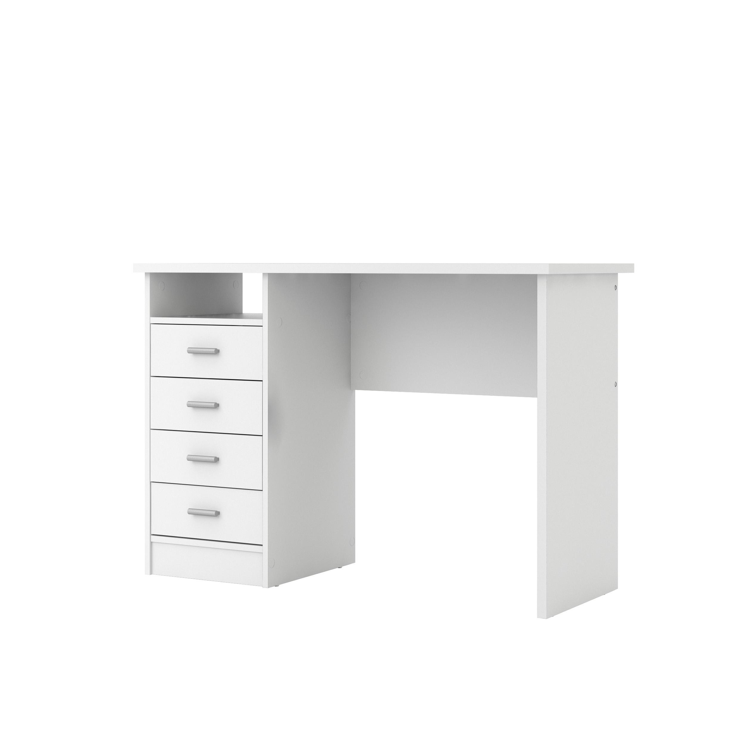 Tvilum Warner Computer Desk with Drawers, White Finish ...