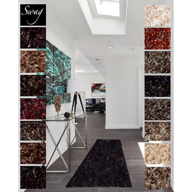 Shaw  Swag Luxury Shag Runner Rug (2' x 6')