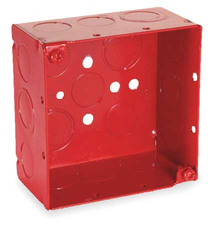 RACO 911-3 Electrical Box,Square,30.3 Cu In,Red