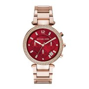Michael Kors MK6106 Parker Merlot Chronograph Wrist Watch for Women