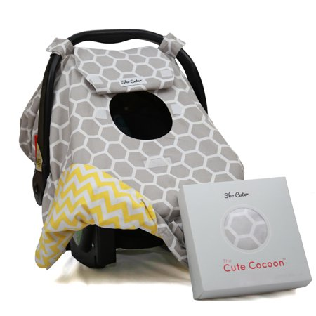 the cute cocoon baby car seat cover gray honeycomb. Black Bedroom Furniture Sets. Home Design Ideas