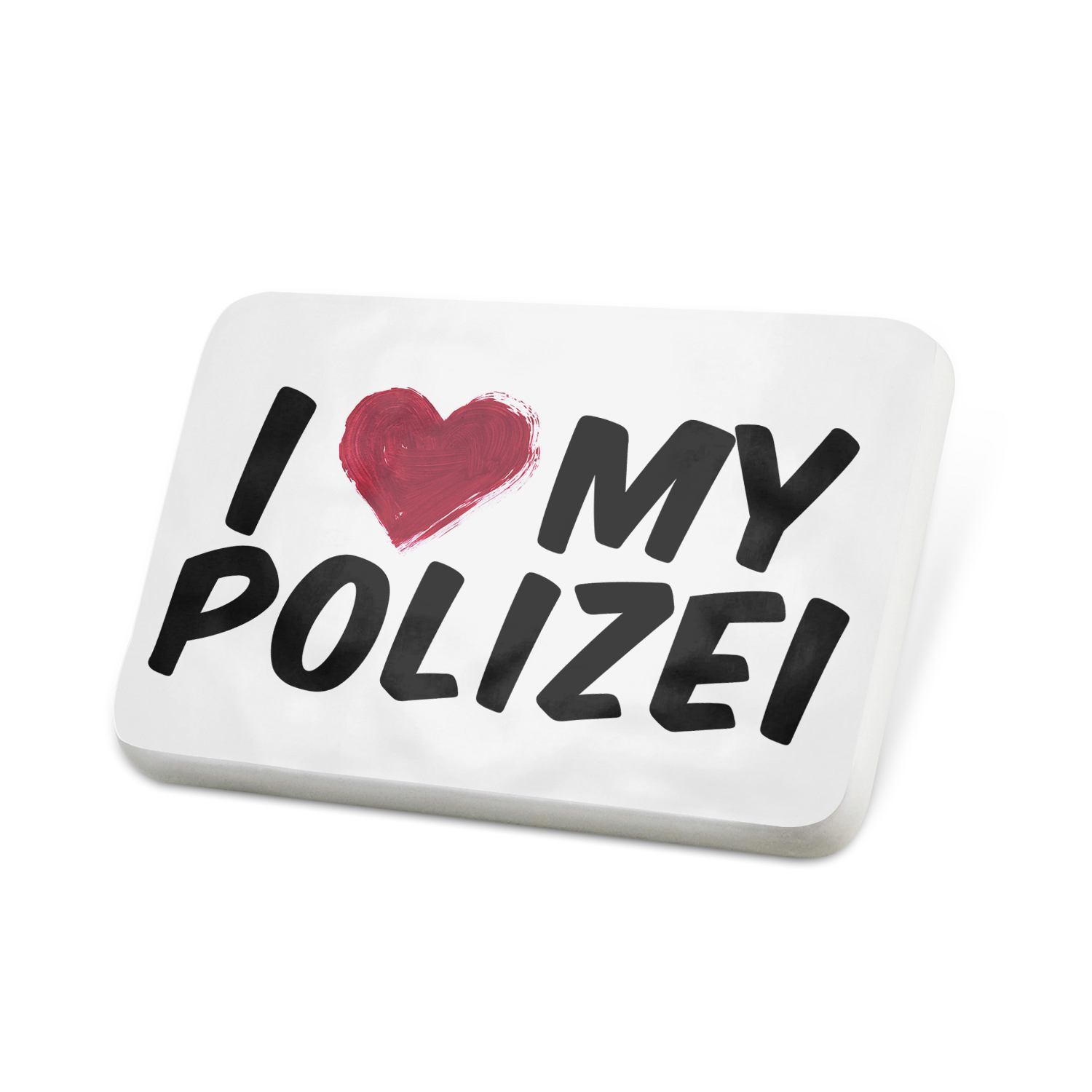 Porcelein Pin I heart love my Polizei Lapel Badge – NEONBLOND