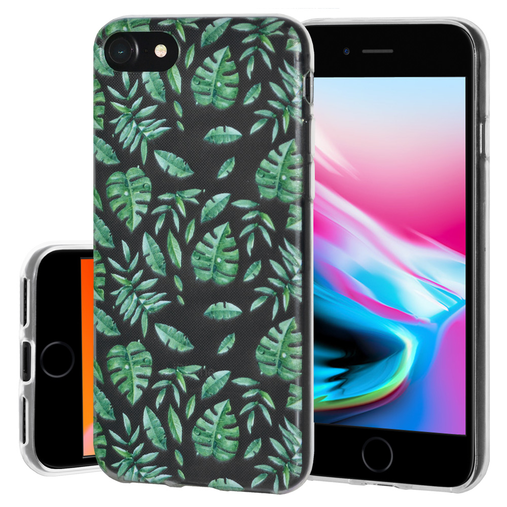 iPhone 8 Case, Premium Soft Gel Clear TPU Graphic Skin Case Cover for Apple iPhone 8 - Woodland Fern, Support Wireless Charging, Slim Fit, ShockProof