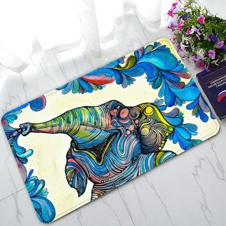 GCKG African Elephant Non-Slip Doormat Indoor/Outdoor/Bathroom Doormat 30 x 18 Inches