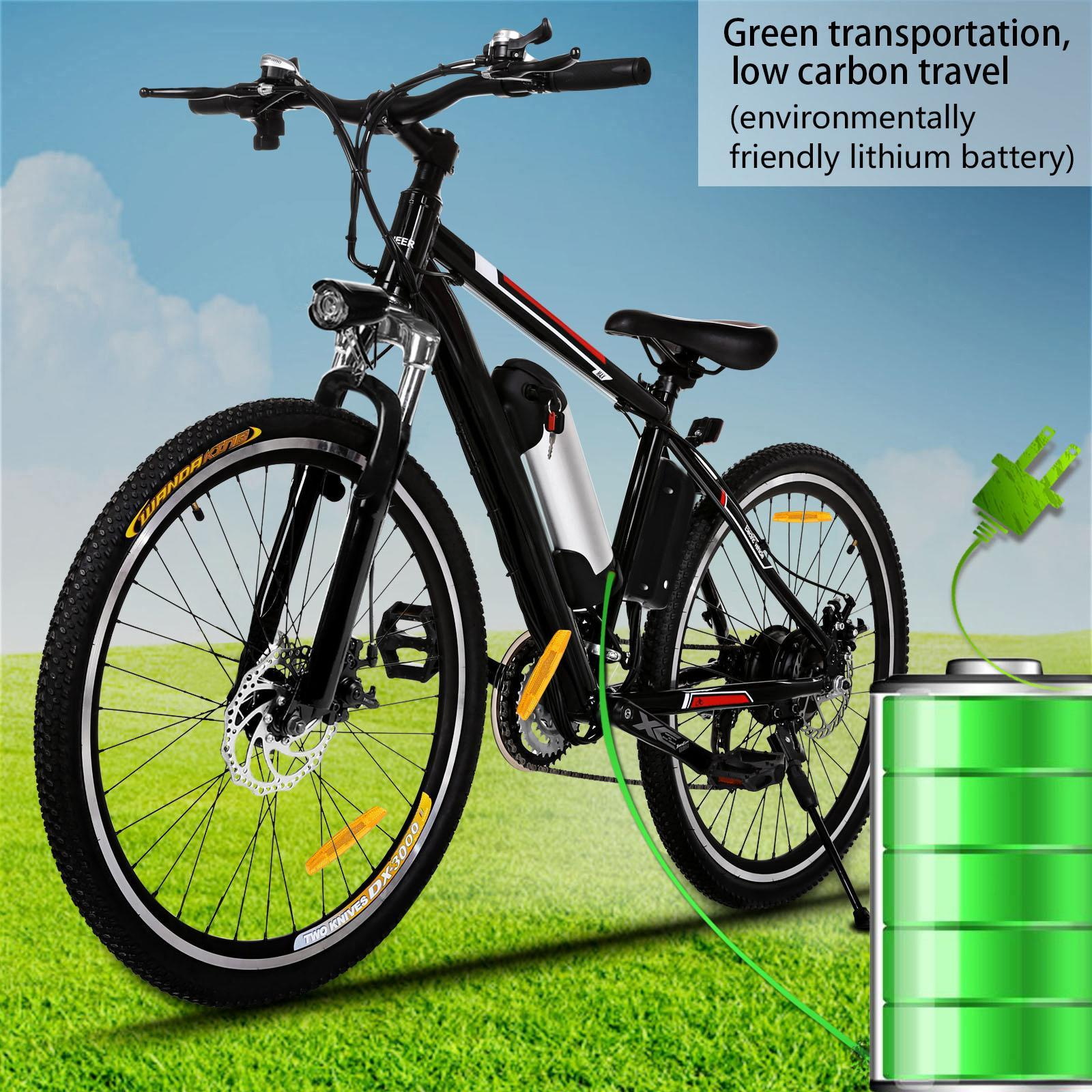 "Lowest Price Ever! Power Plus 25""Electric Bike Mountain Bicycle with Removable Lithium-Ion Battery, Battery Charger"