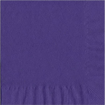 50 Plain Solid Colors Luncheon Dinner Napkins Paper - Purple (Dinner Napkins Paper)