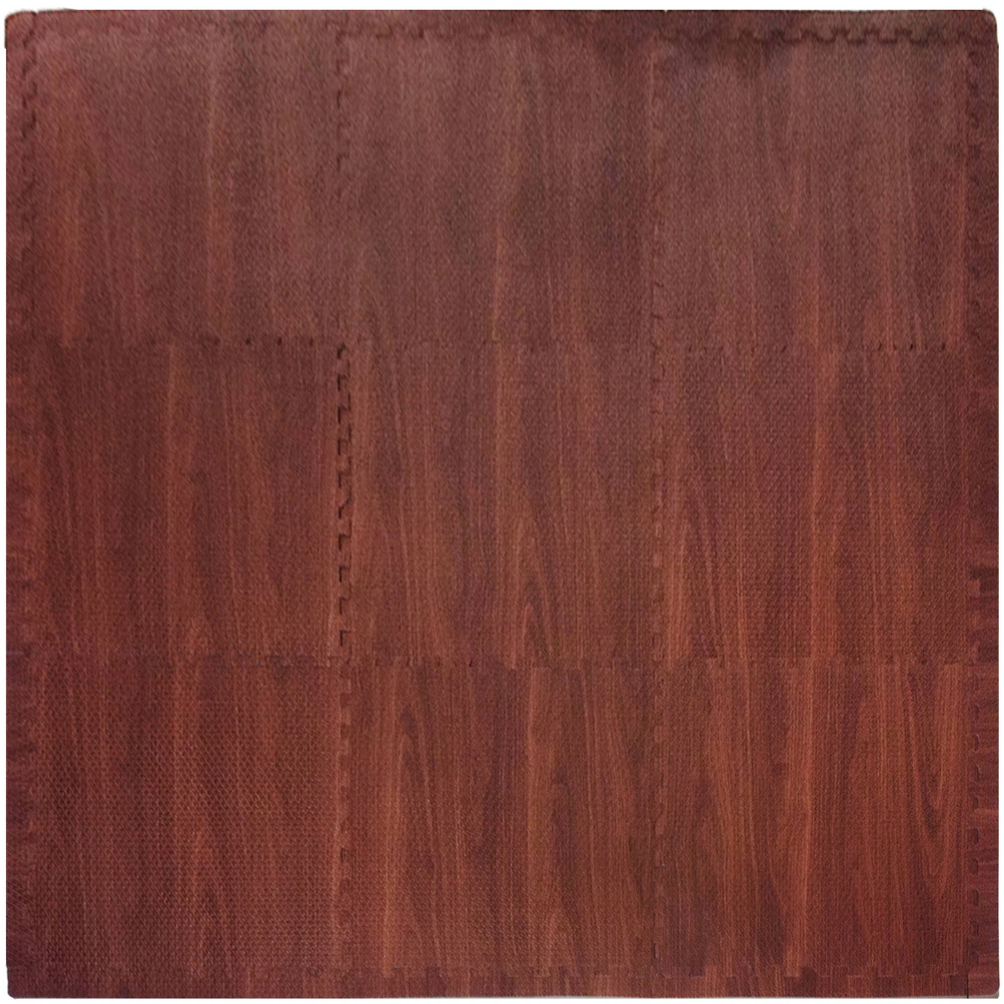 Tadpoles Playmat Set, 9pc, Wood Grain, Dark Brown