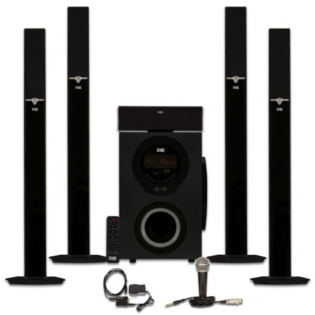 Acoustic Audio AAT3003 Tower 5.1 Home Theater Bluetooth Speaker System with Optical Input