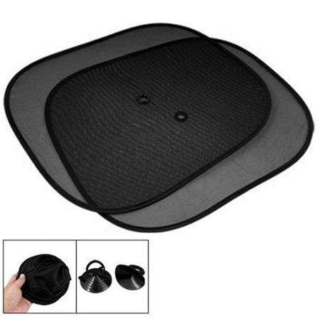Wideskall 4 Pcs Foldable Auto Car Front Rear Side Window Mesh Sunshade ()