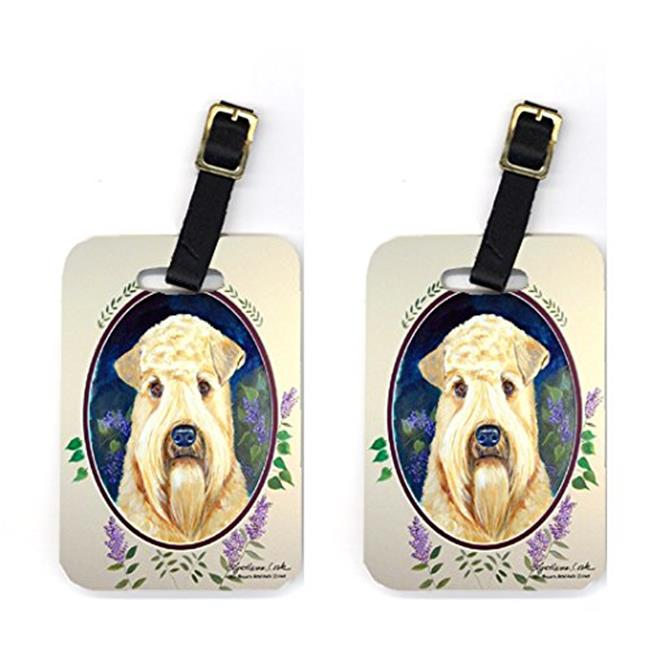 Carolines Treasures 7254BT Pair of 2 Wheaten Terrier Soft Coated Luggage Tags - image 1 of 1