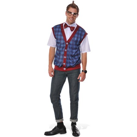 Bow High School Halloween (Nerd Male Adult Men School Boy Uniform Halloween)