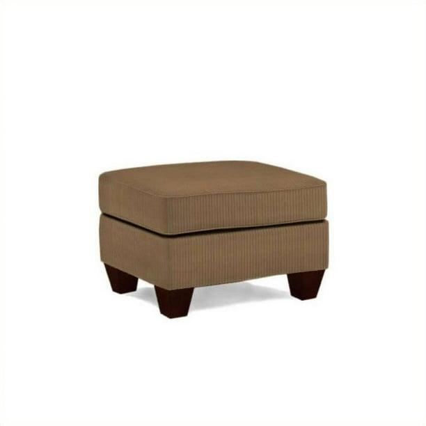 Broyhill Maddie Microfiber Mocha Ottoman With Affinity Wood Finish Walmart Com Walmart Com