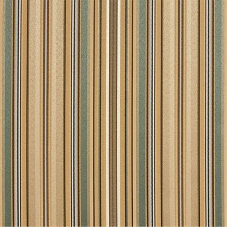Designer Fabrics U0160F 54 in. Wide Green, Light Blue And Gold Shiny Thin Striped Silk Satin Upholstery (Gold Upholstery)