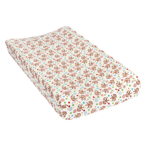 Harriet Bee Tremblay Monkeys Deluxe Flannel Changing Pad Cover
