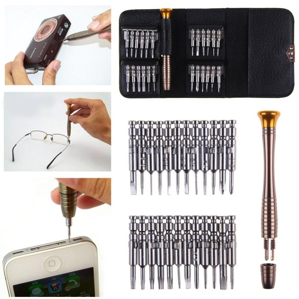 25 Pcs Small Mini Precision Screwdriver Set For Watch Jewelry Electronic Repair MZ