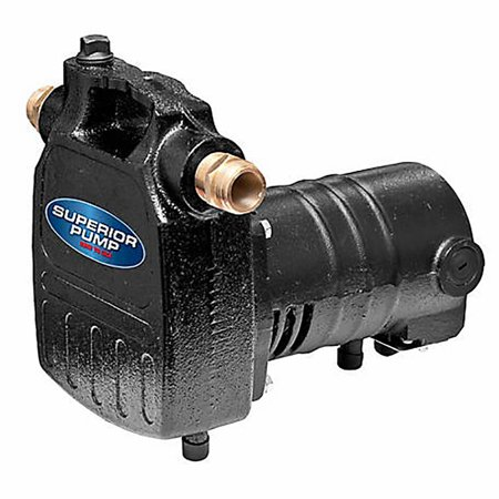 Superior Pump 90050 1/2 HP Heavy-Duty Cast Iron Utility Water Transfer -