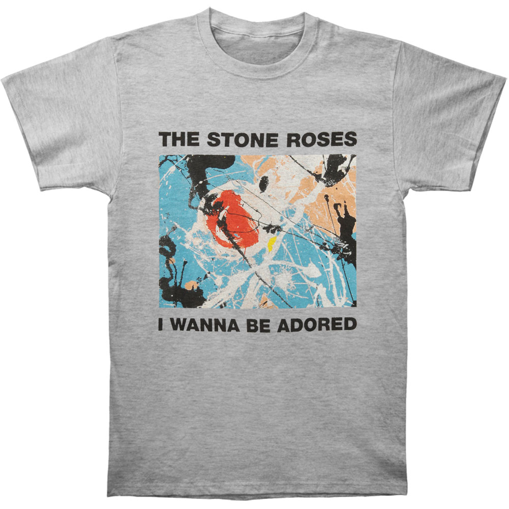 Stone Roses Men's  I Wanna Be Adored T-shirt Grey