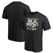 Kansas Jayhawks Fanatics Branded 2020 Big 12 Men's Basketball Regular Season Champions T-Shirt - Black