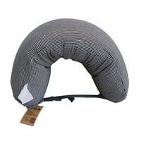 U Shaped Foam Particles Travel Neck Pillow Health Care Headrest Home Office Flight Car Nap Side Sleeper