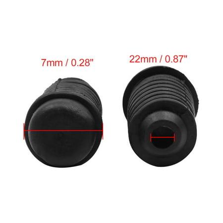 8pcs 22 x 47.5mm Auto Buffer Mount Rubber Block Absorber for Car Door Trunk Hood - image 1 of 4