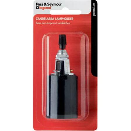 Bottom Turn Knob Socket - 4155BPCC5 660W 250V Incandescent Candle Socket, Bottom Turn Knob Single Pole Switch