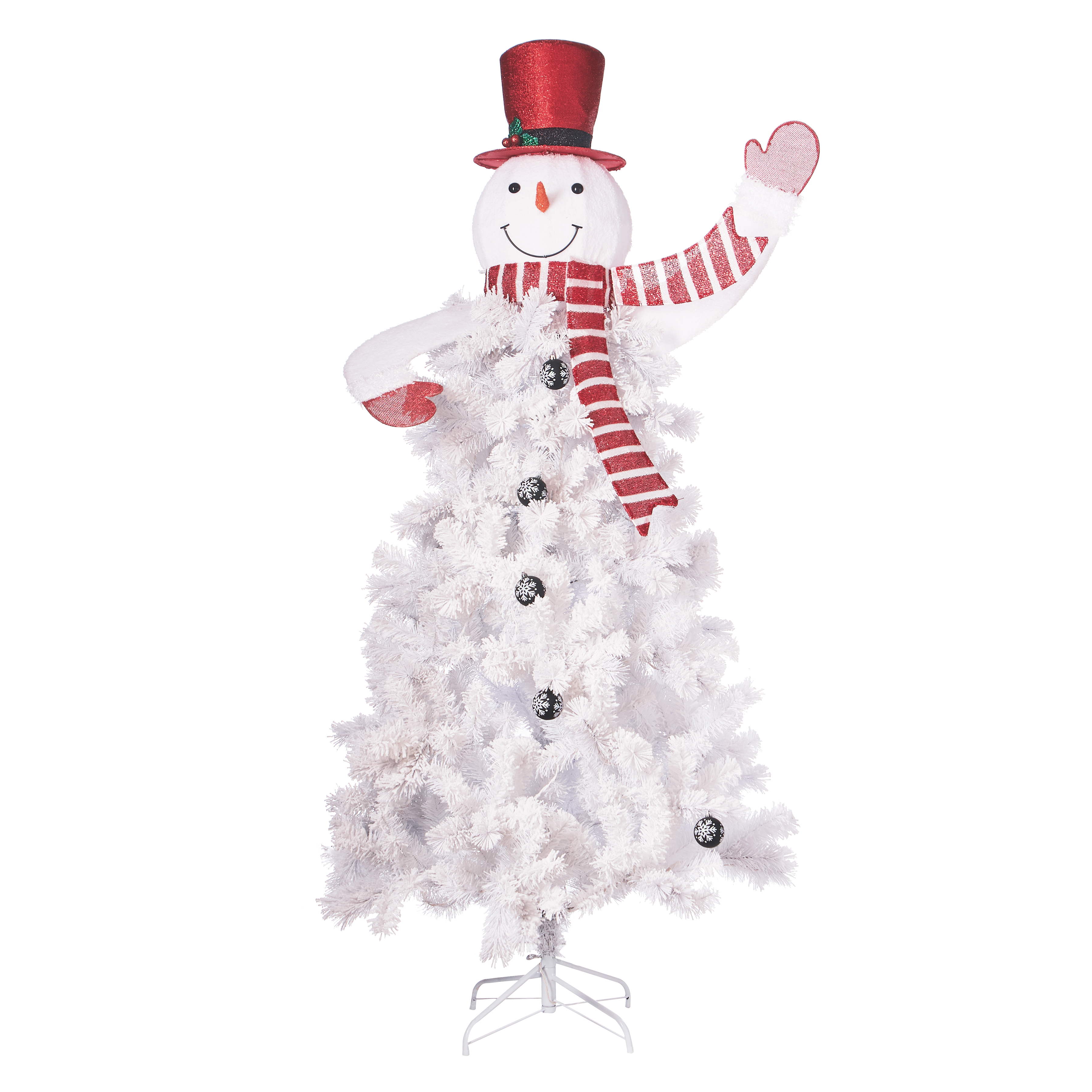 Holiday Time 6.5ft Pre-Lit Snowman Artificial Christmas Tree - White