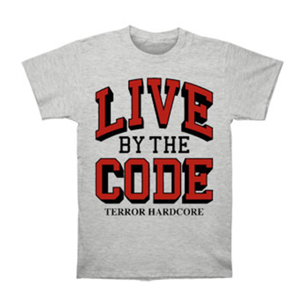 Terror Men's  Live By The Code T-shirt Grey